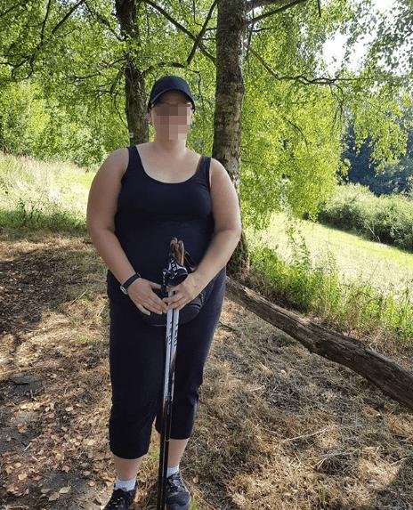 Walka z otyłością - ja na kijkach